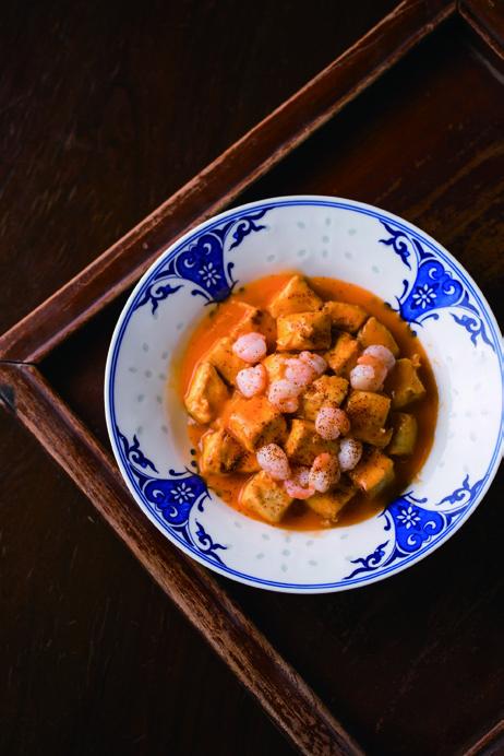 时节限定的三虾煎焖豆腐