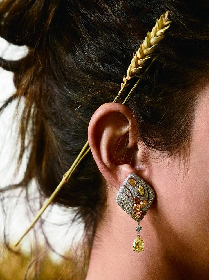 Chanel 高级珠宝Les Bles de Chanel 系列Impression de Blé 耳环