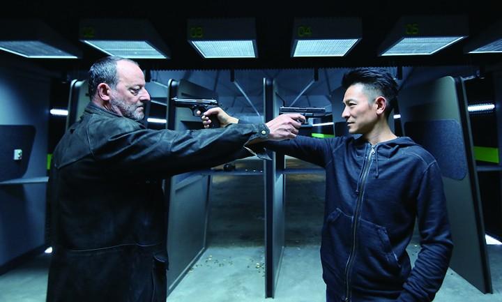 让·雷诺与刘德华在《侠盗联盟》对峙