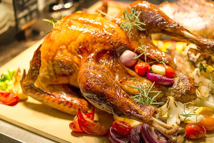 秀自助餐厅圣诞火鸡