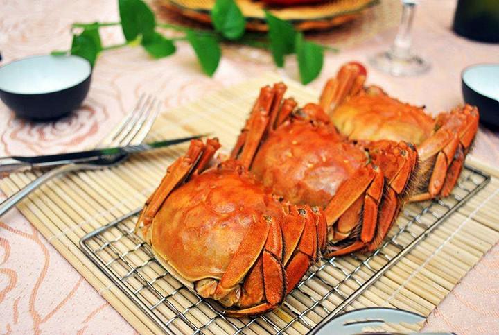 这个大闸蟹好漂亮,吃了!