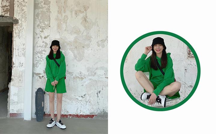 被很多人不敢轻易尝试的绿色穿搭,美哭惹!